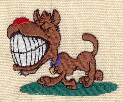 Embroidery Design: Dog with teeth 2.50w X 2.00h