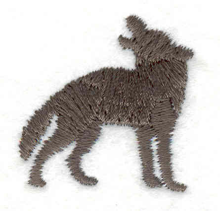 """Embroidery Design: Wolf howling D1.16""""w X 1.20""""h"""