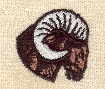 Embroidery Design: Ram head B 1.31w X 1.32h