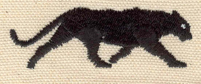 Embroidery Design: Panther   2.53w X 0.84h