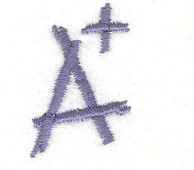 "Embroidery Design: A+ 1.00""w X 1.50""h"