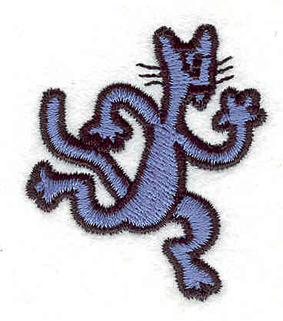 "Embroidery Design: Cat running 1.56""w X 1.81""h"