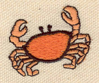 Embroidery Design: Crab B 1.50w X 1.30h