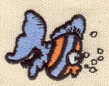 Embroidery Design: Fish 1.60w X 1.20h