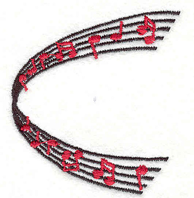 "Embroidery Design: Music 2.52"" X 2.28"""