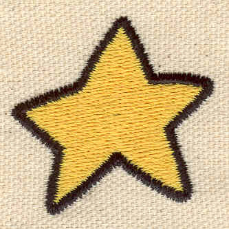 Embroidery Design: Star 1.50w X 1.44h