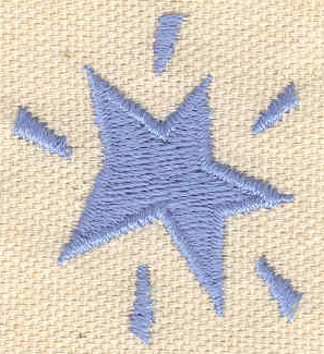 Embroidery Design: Star 1.35w X 1.51h