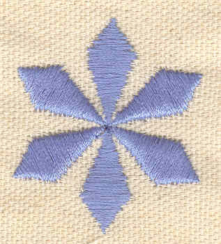 Embroidery Design: Star snowflake 1.35w X 1.56h