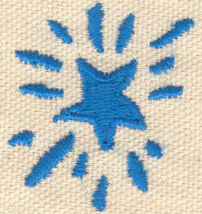 Embroidery Design: Star 1.31w X 1.49h