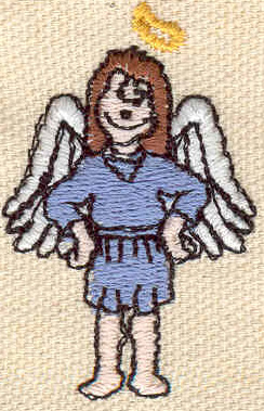 Embroidery Design: Angel 1.20w X 1.83h
