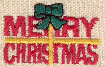Embroidery Design: Merry Christmas 1.57w X 1.00h