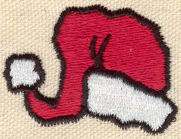 Embroidery Design: Santa hat 1.82w X 1.35h