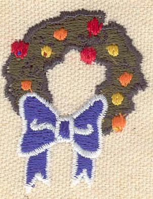 Embroidery Design: Wreath 1.46w X 1.85h