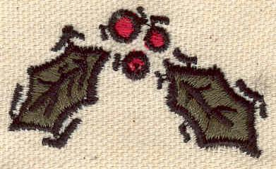 Embroidery Design: Mistletoe 1.84w X 1.02h