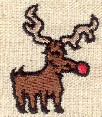 Embroidery Design: Rudolph 1.47w X 1.83h