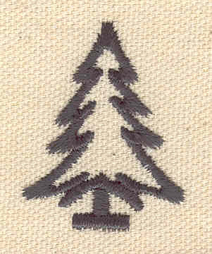Embroidery Design: Christmas tree 1.16w X 1.51h