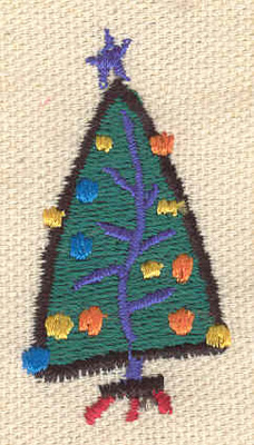 Embroidery Design: Christmas tree 0.99w X 1.89h