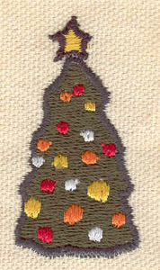 Embroidery Design: Christmas tree 1.03w X 1.93h