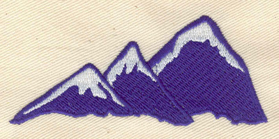 Embroidery Design: Mountains 3.32w X 1.43h