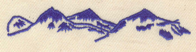 Embroidery Design: Mountains 3.95w X 0.79h