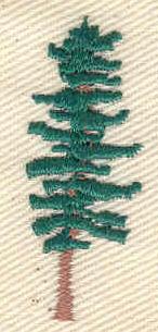 Embroidery Design: Pine tree  0.53w X 1.43h
