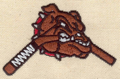 Embroidery Design: Bull dog<br>3.37w X 2.17h