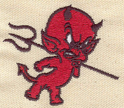 Embroidery Design: Devil A 2.74w X 2.33h