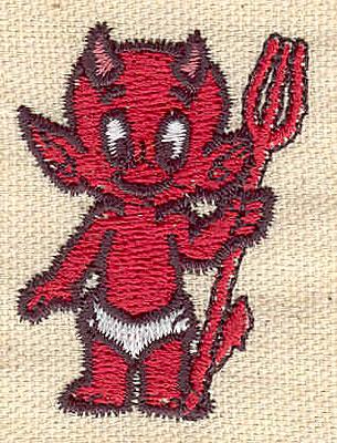 Embroidery Design: Devil B 1.35w X 1.86h