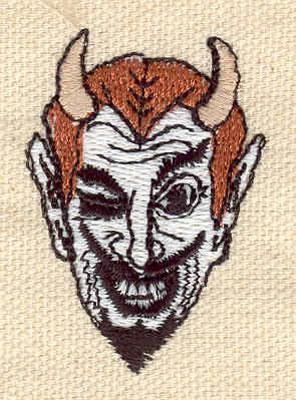 Embroidery Design: Devil A 1.19w X 1.71h