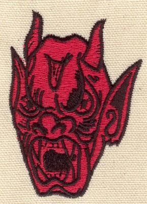 Embroidery Design: Devil B 2.19w X 3.03h