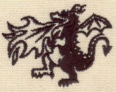 Embroidery Design: Fire breathing dragon 2.36w X 1.81h