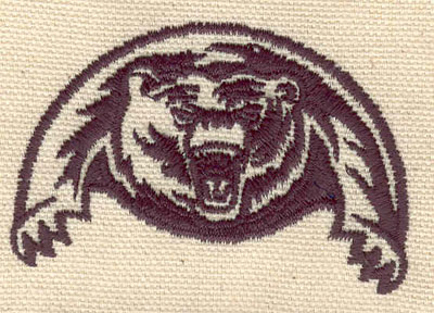 Embroidery Design: Grizzly 2.55w X 1.73h