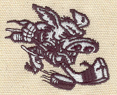 Embroidery Design: Hockey hog 2.30w X 1.81h
