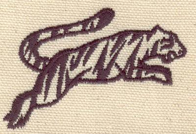 Embroidery Design: Tiger 2.60w X 1.68h