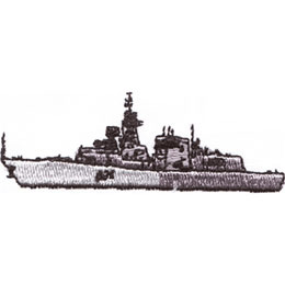 "Embroidery Design: Battleship 20.96"" x 2.76"""