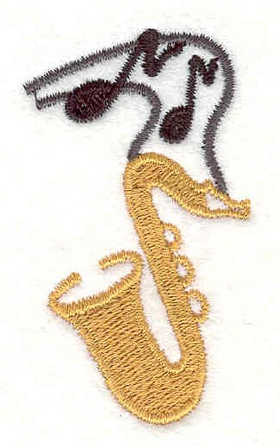 "Embroidery Design: Saxaphone 2.27"" X 1.28"""