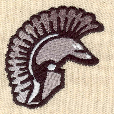 Embroidery Design: Helmet warrior 2.28w X 2.61h