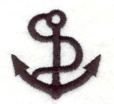"""Embroidery Design: Anchor with rope K 1.65""""w X 1.69""""h"""