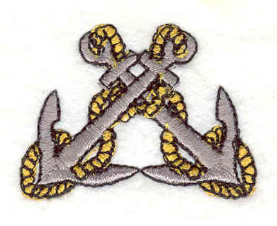 "Embroidery Design: Anchors with ropes  1.65""w X 1.22""h"