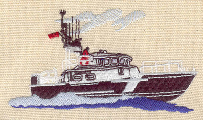 Embroidery Design: Rescue boat 4.04w X 2.28h