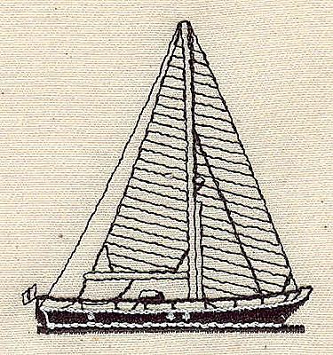 Embroidery Design: Sailboat 2.13w X 2.28h