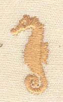 Embroidery Design: Mini seahorse 0.39w X 0.81h