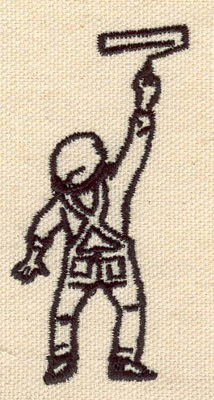 Embroidery Design: Painter small 1.52w X 3.04h