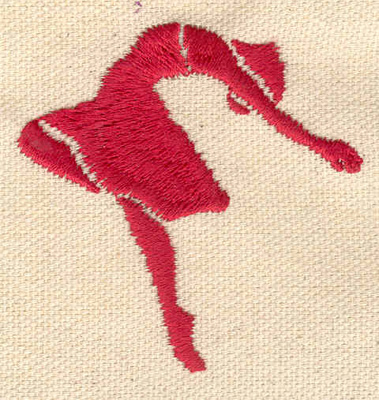 Embroidery Design: Dancer F 2.21w X 2.22h