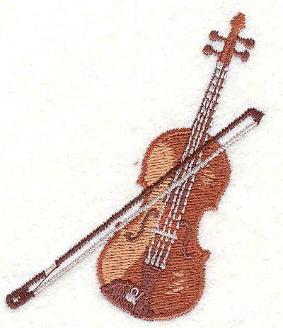 """Embroidery Design: Violin  2.96"""" X 2.36"""""""