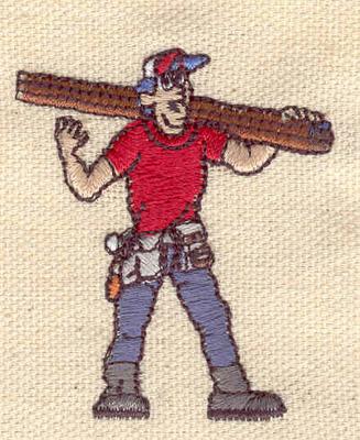Embroidery Design: Carpenter 1.77w X 2.08h