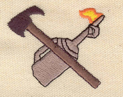 Embroidery Design: Controlled burn torch 2.19w X 1.85h
