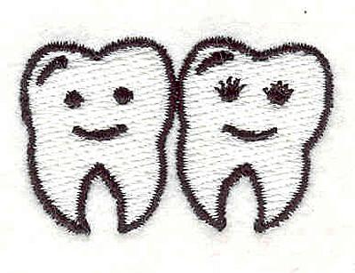 "Embroidery Design: Teeth 2  1.08"" x 1.72"""