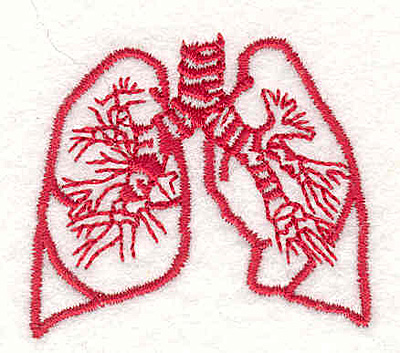 "Embroidery Design: Lungs 2  1.67"" x 1.87"""