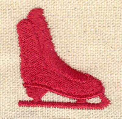 """Embroidery Design: Red Skate1.55""""Hx1.44""""W"""